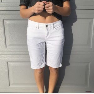 Jcpenny white Jean Shorts